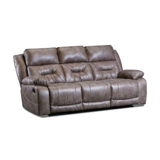 See Details - AF200 Nashville Silver Reclining Sofa