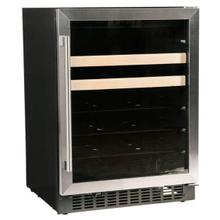 "24"" Beverage Center with Stainless Trim Glass Door"