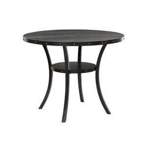 """New Classic Furniture - Crispin 48"""" Round Counter Height Table with Smoke Finish"""