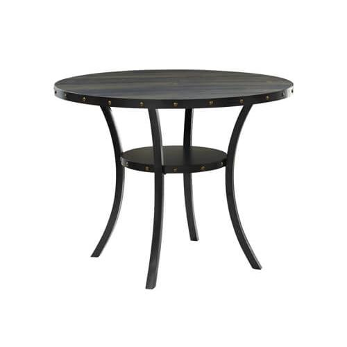 """Product Image - Crispin 48"""" Round Counter Height Table with Smoke Finish"""