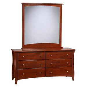 Clove 6 Drawer Dresser Cherry Finish