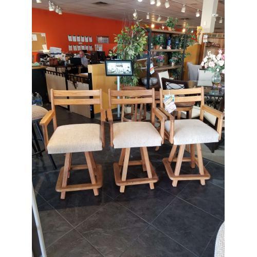 """Solid oak 26"""" counter stools"""