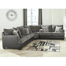 Millingar - Smoke - Queen Sleeper Sofa, Wedge, and Loveseat Sectional