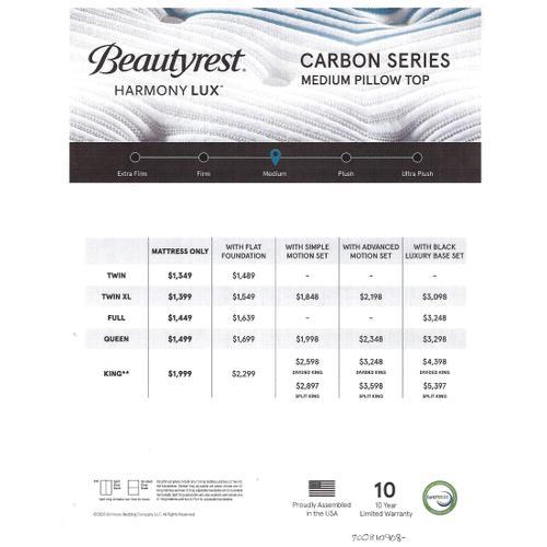 Beautyrest - Harmony Lux - Carbon Series - Medium - Pillow Top - Queen