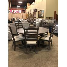 "60"" Round dining table--No leaves. $799 Side chairs $185 each--Great Value!"