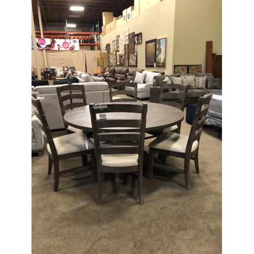 """60"""" Round dining table--No leaves. $799 Side chairs $185 each--Great Value!"""