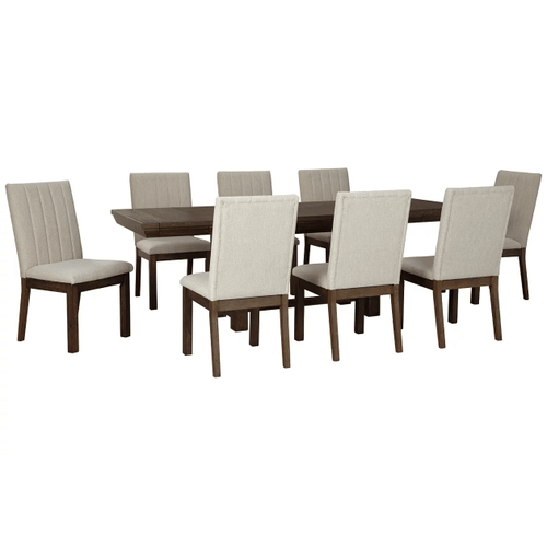 Dellbeck - Brown - 7 Pc. - Rectangular Extension Table & 6 Side Chairs