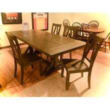 See Details - Finn Dining Set in a Smokey Walnut finish  - Table & 4 Chairs        FLOOR SAMPLE CLEARANCE   (75115,75114,75116)