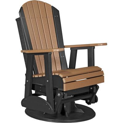 Adirondack Swivel Glider 2' Cedar and Black