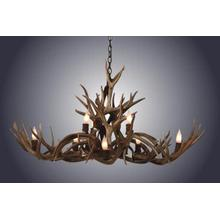 REAL 8 Light Small Oblong Inverted Jule Deer Antler Chandelier