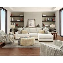 Fusion Brazton Ivory 2-Piece Sectional with Right Chaise