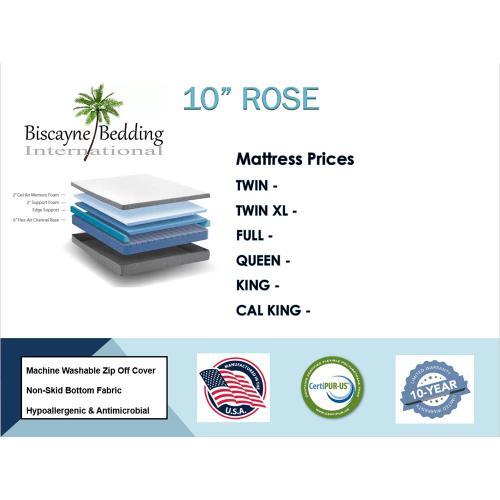 """Biscayne Bedding - 10"""" Rose"""