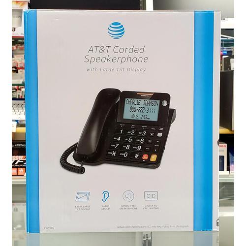 AT&T - AT&T Corded Speakerphone