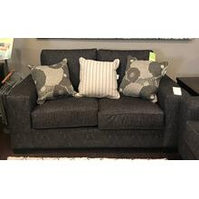 Charcoal Loveseat With Accent Pillows