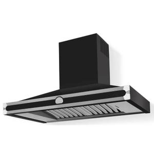 Lacornue Cornufe - Matte Black Cornufe 110 Hood with Polished Chrome Accents