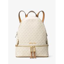 View Product - Micheal Kors Rhea Medium Signature Logo Backpack - Vanilla - 30S7GEZB1B-150