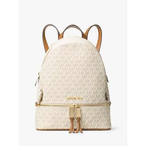 Micheal Kors Rhea Medium Signature Logo Backpack - Vanilla - 30S7GEZB1B-150