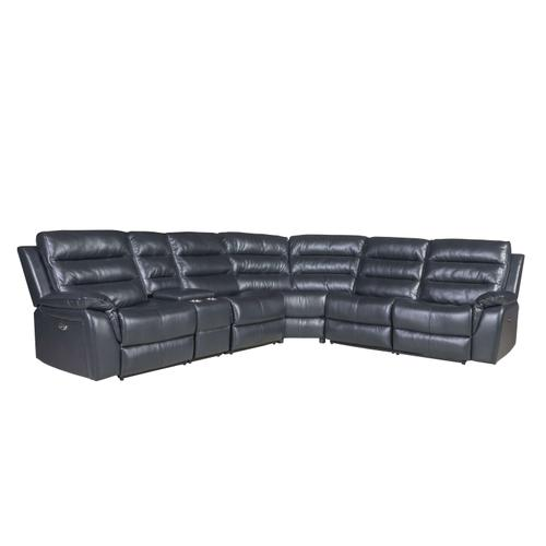 LIFESTYLE U6450S-21RBOXCCX 6 Piece Belair Charcoal Power Reclining Sectional Sofa