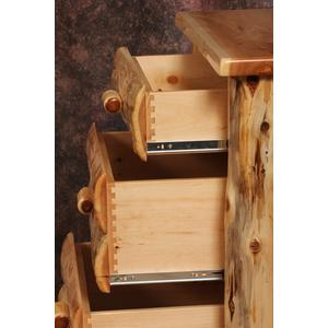 Cozy Creations Collection - White Cedar Log 4 Drawer Chest