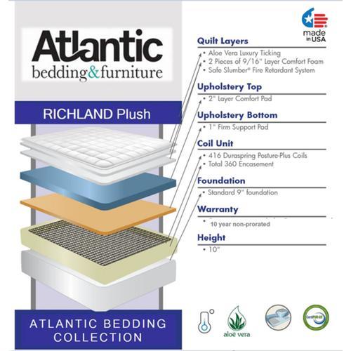 Atlantic Bedding and Furniture - Atlantic Bedding Collection - Richland - Plush