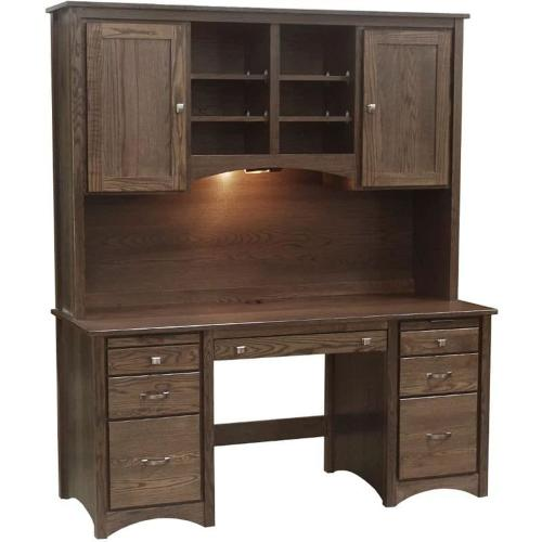 """Gallery - 65"""" Desk with Hutch"""
