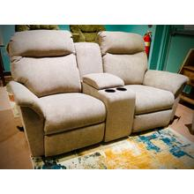 CAITLIN ROCKING RECLINER CONSOLE LOVESEAT in STONE        (L420RC7-20206,27955)