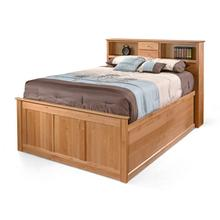 Storage Bed - Queen Bookcase Headboard
