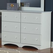 6 Drawer Narrow Dresser White