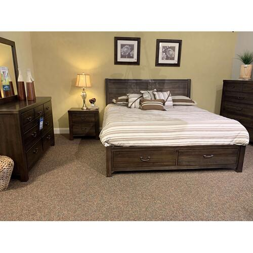 King Storage Bedroom Set with 1 Nightstand - Style ALE700