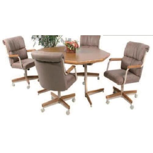 Douglas Extension Table with 4 Tilt Swivel Chairs