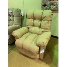 Brosmer Power Recliner with Power Headrest Leather Match