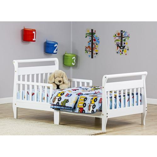 Sleigh Toddler Bed in White