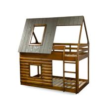 See Details - Twin/Twin Log Cabin Bunk Bed