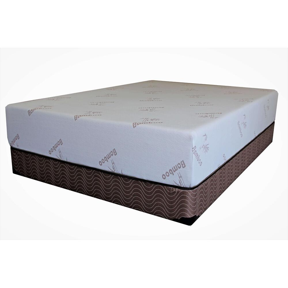 "Memory Foam Bamboo 10"" Mattress Set"