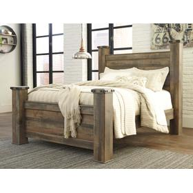 Trinell Queen Poster Bed Brown