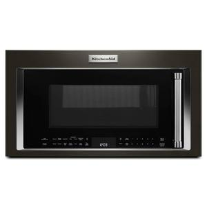 """Kitchenaid 1.9CF Black Stainless Steel 30"""" Convection Over the Range Microwave Product Image"""