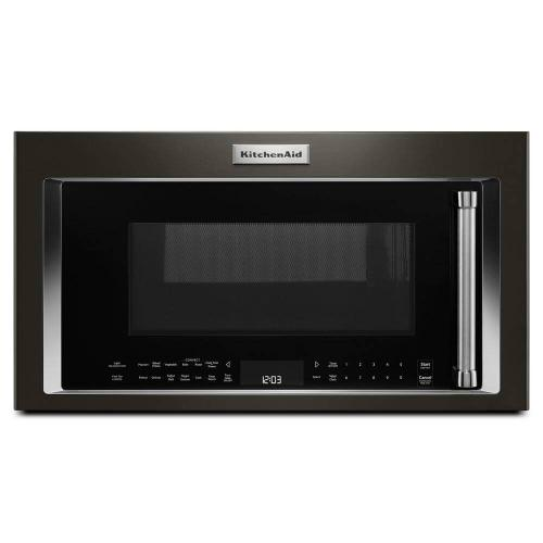 "Kitchenaid 1.9CF Black Stainless Steel 30"" Convection Over the Range Microwave"