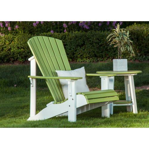 Amish Furniture - Adirondack chair with side table