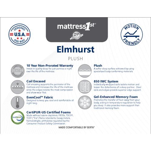 Elmhurst - Plush - Queen Mattress Only