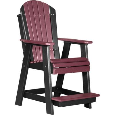 Adirondack Balcony Chair Cherry and Black