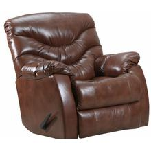 4219-18 Getaway Swivel Rocker Recliner - Yellowstone Tobacco Leather