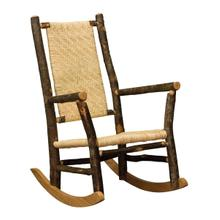 Grandpa Rocker w/ Caned Seat & Back
