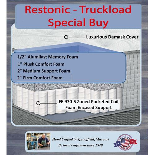 NHS - Restonic Manor Crest Plush - Truckload Special Buy - Mix Match Covers