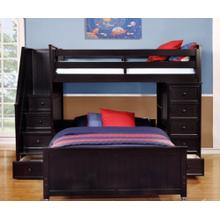 Multi-Purpose Loft - Twin over Full Bunk Bed - Espresso