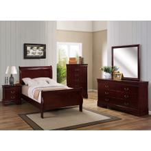 See Details - 6 Piece Louis Philip Cherry Bedroom Group - Twin Size