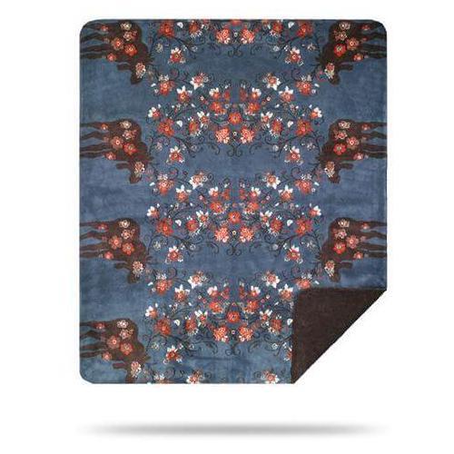 Denali Blankets - Moose Blossom Blue