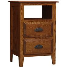 Summit Night Stand 2 Drawer with Opening
