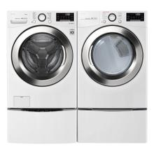 LG 4.5 CF Front Load Washer, Steam, ThinQ And 7.4 CF Electric Dryer, Turesteam, ThinQ in White