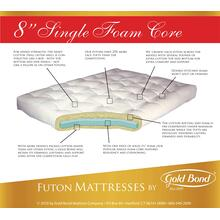 "See Details - 8"" Single Foam Futon - Queen"