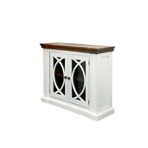 Rustic Imports - RUSTIC IMPORTS HO-COM57MO Rustic Antique White Consolee
